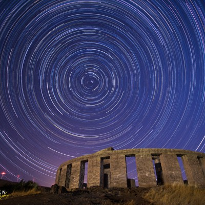 Star Trails at Maryhill Stonehenge