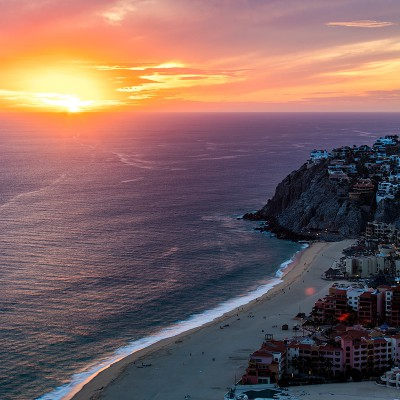 Sunset at Cabo San Lucas by Nikky Stephen